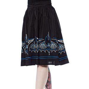 Batty Pinstripe Circle Swing Skirt Halloween NWT